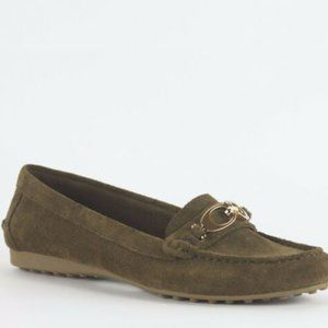 Coach Fortunata Suede Loafer in Java color